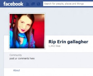 Cyberbully victim Erin Gallagher